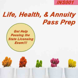 All States: Life Health & Annuity Insurance Pre-licensing Cram Course and Flash Cards Pass Prep ( 	INS001)