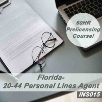 Florida: 60 hr 20-44 Personal Lines Agent Pre-Licensing Course (INS015FL60)