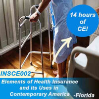 Florida: 14 hr All lines CE - ELEMENTS OF HEALTH INSURANCE & IT'S USES IN CONTEMPORARY AMERICA (INSCE002FL14)