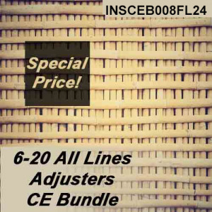 Florida - INSCEB008FL24 - 6-20 All-Lines Adjusters CE Bundle 2019-2020
