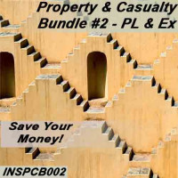Florida: 200 hr Property and Casualty -  General Lines Pre-licensing course and Practice Exam Plus - Bundle #2